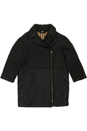 Burberry Cappotto In Nylon Trapuntato Con Logo
