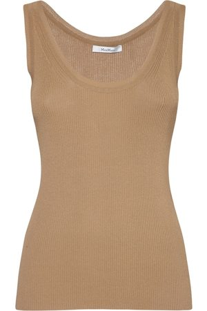 Max Mara Top In Crepe Di Viscosa A Costine
