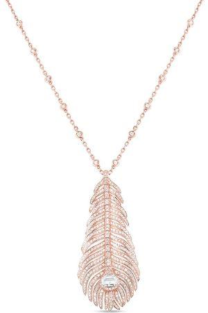 Boucheron Collana con pendente Plume de Paon in oro 18kt con diamanti
