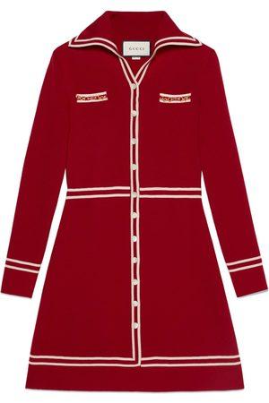 Gucci Abito in lana con GG jacquard