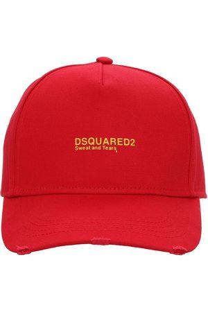 Dsquared2 Cappello In Gabardina Di Cotone