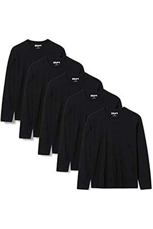 HIKARO AF-M-JR 035 Magliette, Black , 44, Pacco da 5