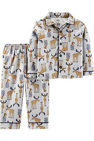 Simple Joys by Carter's Bambini Set - 2-Piece Coat Style Pajama Set Sets, Moose, 2T