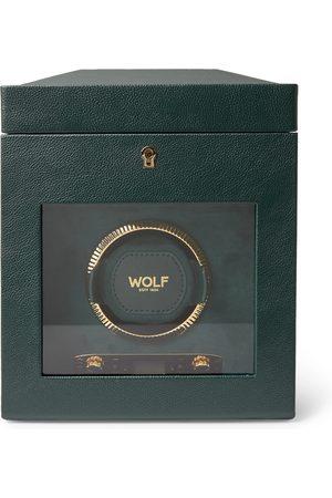 Wolf British Racing Pebble-Grain Vegan Leather Watch Winder
