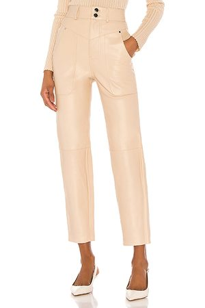 Song of Style Seana Leather Pant in - Neutral. Size L (also in M).