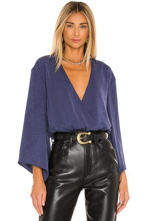 House of Harlow X REVOLVE Majori Blouse in - Navy. Size L (also in M, S, XL, XS).