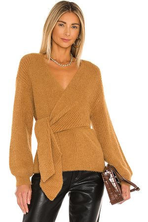 House of Harlow X REVOLVE Khalida Wrap Sweater in - Tan. Size L (also in M, S, XS).