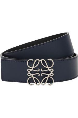 """Loewe Uomo Cinture - Cintura Reversibile """"anagram"""" In Pelle 4cm"""