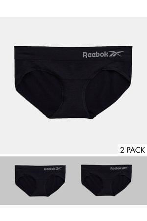 Reebok Confezione da 2 slip neri senza cuciture