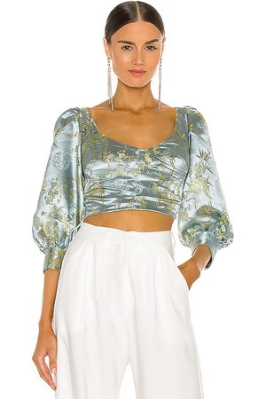 Sau Lee Jodie Blouse in - Baby Blue. Size 0 (also in 2, 4, 6, 8, 10).