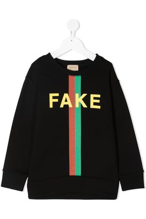 Gucci Felpa con stampa Fake/Not