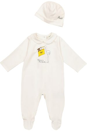 Fendi Baby - Tutina e berretto in cotone