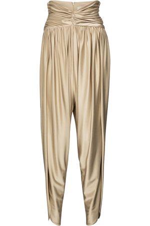 ALEXANDRE VAUTHIER Pantaloni a vita alta in crêpe stretch