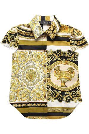 VERSACE Camicia In Popeline Di Cotone