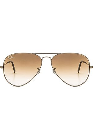 Ray-Ban Aviator Gradient in - Metallic Silver. Size all.