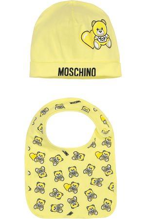 Moschino Baby - Berretto e bavaglino in cotone