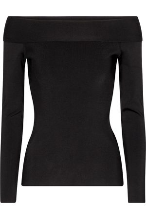 Victoria Beckham Top off-the-shoulder in maglia stretch