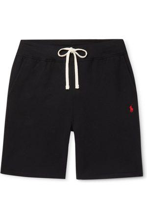 Polo Ralph Lauren Uomo Pantaloncini - Logo-Embroidered Fleece-Back Cotton-Blend Jersey Drawstring Shorts