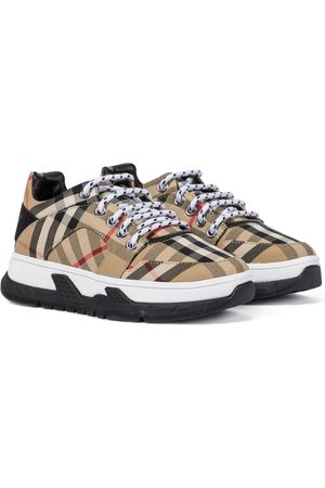 Burberry Sneakers a quadri in canvas