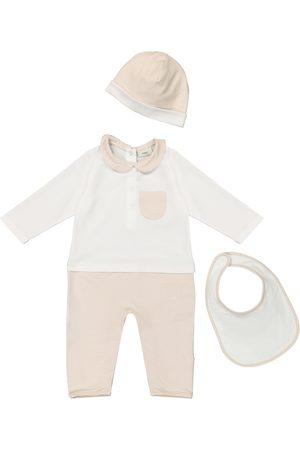 Fendi Baby - Tutina con berretto e bavaglino