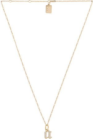 MIRANDA FRYE Gothic Charm & Van Chain Necklace in - Metallic . Size B (also in C, E, F, G, I, J, K, M, N, O, P, R, T).