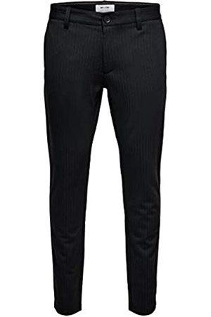 Only & Sons NOS Onsmark Pant Stripe Gw 3727 Noos Pantaloni, Nero , 42 /L30 Uomo