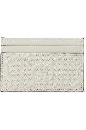 Gucci Uomo Portafogli e portamonete - GG Tennis Logo-Embossed Leather Cardholder