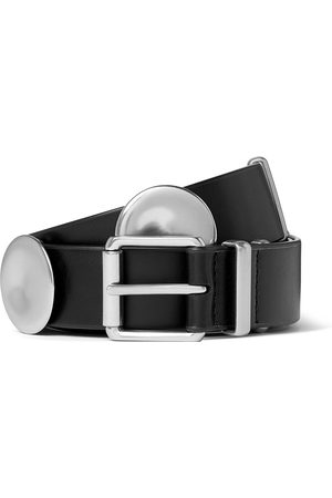 Bottega Veneta Uomo Cinture - 3cm Leather and Silver-Tone Belt