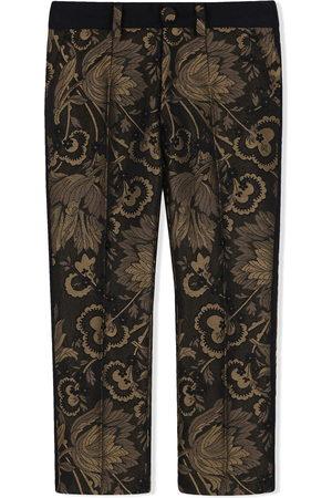 Dolce & Gabbana Pantaloni con effetto jacquard