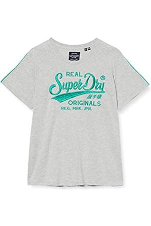 Superdry Ro Piping Entry Tee T-Shirt, Grigio , XS Donna