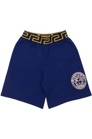 VERSACE Shorts In Felpa Di Cotone