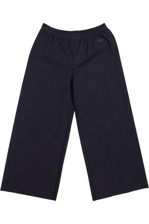 Il gufo Pantaloni a gamba larga in jersey stretch