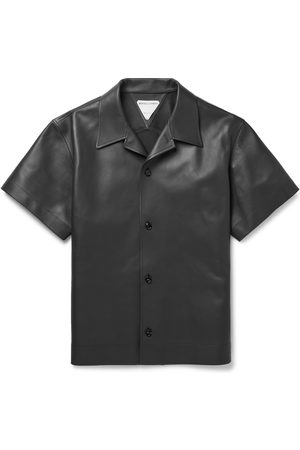 Bottega Veneta Convertible-Collar Leather Shirt