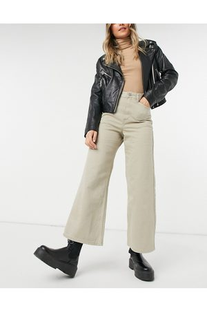 Dr Denim Aiko - Jeans corti con fondo ampio color anacardo