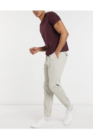 New Look Joggers multitasche in tessuto a coste color pietra- pietra