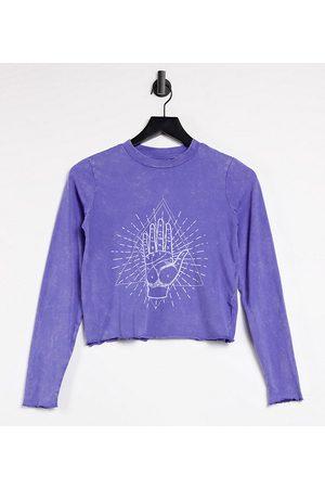 Noisy May Donna T-shirt - Esclusiva - T-shirt corta con bordo ondulato slavato