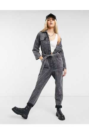 Noisy May Tuta jumpsuit in denim lavaggio acido