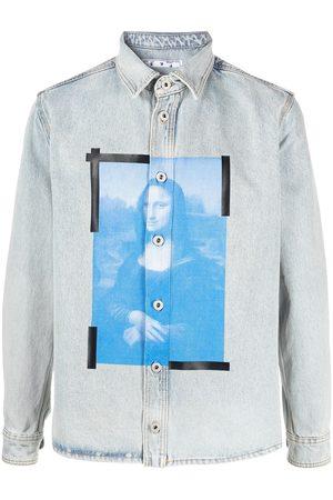 OFF-WHITE Camicia denim Monalisa con stampa