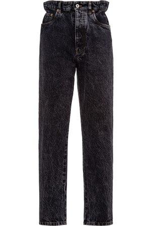 Miu Miu Donna Boyfriend jeans - Jeans dritti a vita alta