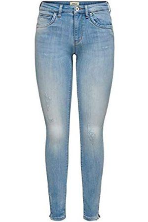 Only Onlkendell Regsk Ank Zipjnscre85148 Noos Jeans Skinny, Blu , W27/L32 Donna