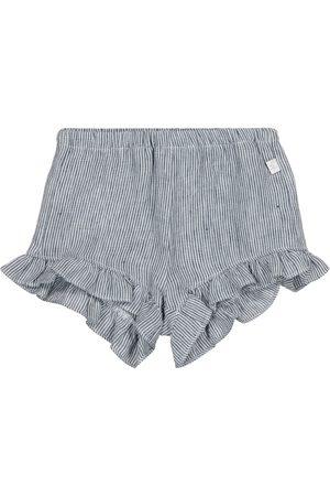 Il gufo Baby - Shorts a righe in lino