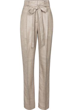 GABRIELA HEARST Pantaloni Collins in lana, seta e lino