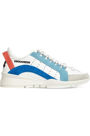 "Dsquared2 Donna Sneakers - Sneakers ""551"" In Pelle E Camoscio 30mm"