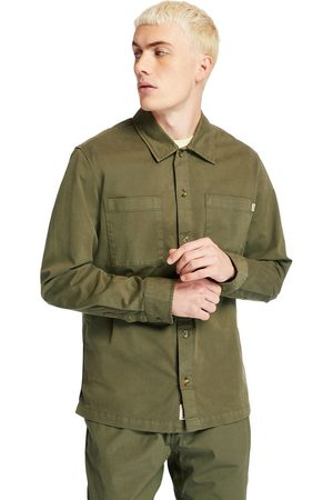 Timberland Camicia Da Uomo In Twill Garment-dyed In Scuro Scuro
