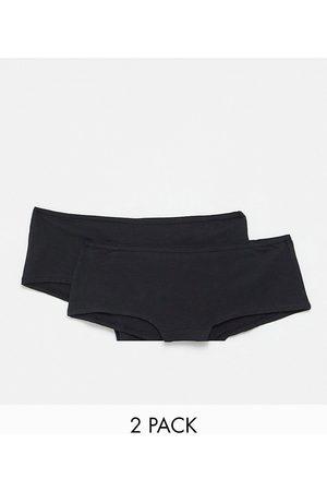 Hunkemoller Kim - Confezione da 2 paia di boxer in cotone neri