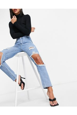 I saw it first Mom jeans con cut-out alle ginocchia