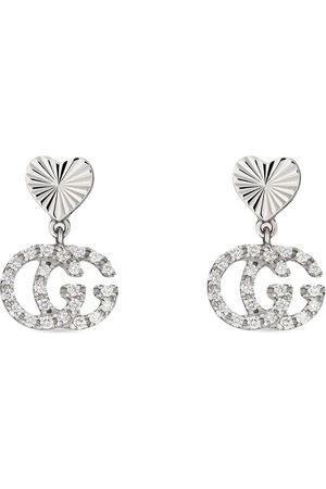 Gucci Orecchini GG in oro bianco 18kt con diamanti
