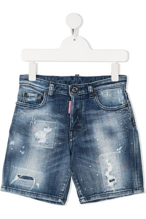 Dsquared2 Shorts denim con effetto vissuto
