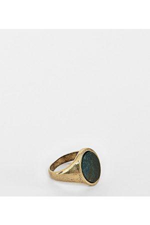 Reclaimed Vintage Inspired - Anello chevalier con pietra semipreziosa - In esclusiva per ASOS