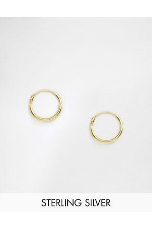 ASOS Orecchini a cerchio 12 mm in argento sterling placcato 14 ct
